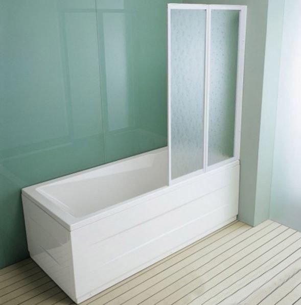 Купить Двухсекционная шторка на ванну прямоуг. Kolpa-San Quat TP 110