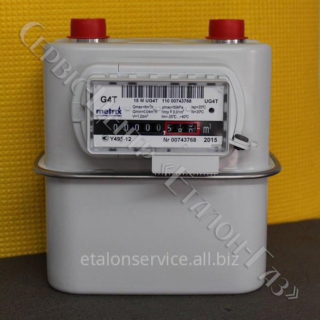 Газовий лічильник Metrix GT-4 (GT-4) побутової діафрагмовий з температурною корекцією