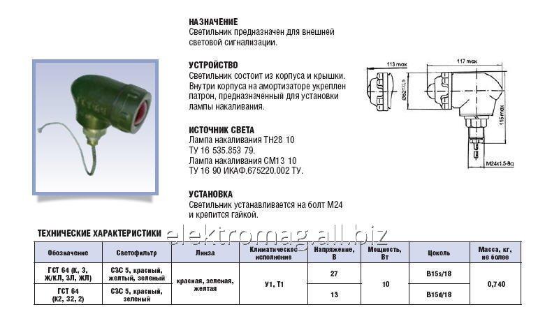 Светильник ГСТ-64