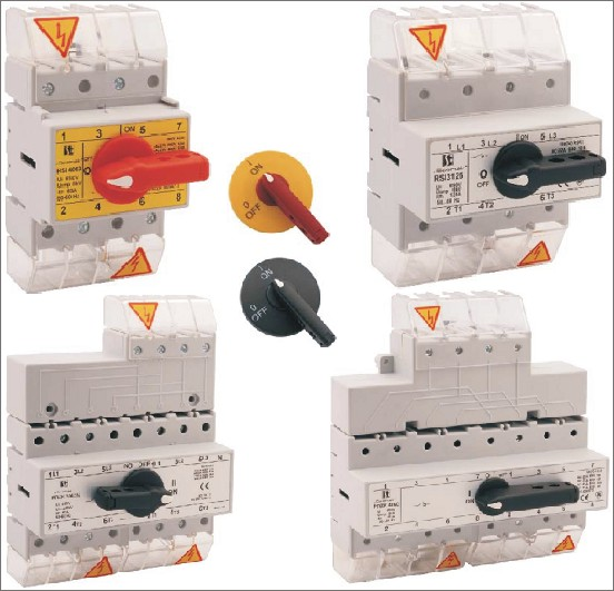 Выключатели нагрузки RSI, рубильники-переключатели PRZK, 63-160А, СПАМЕЛ.