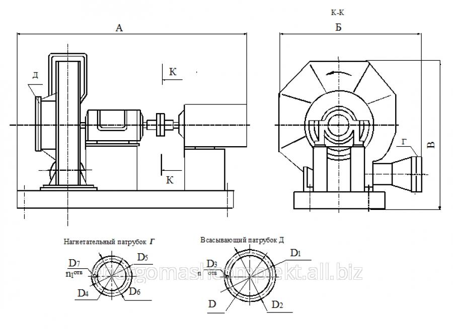 Турбокомпрессор газовый ТГ-65