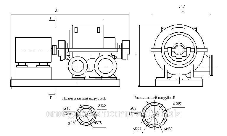 Турбокомпрессоры воздушные ТВ-42