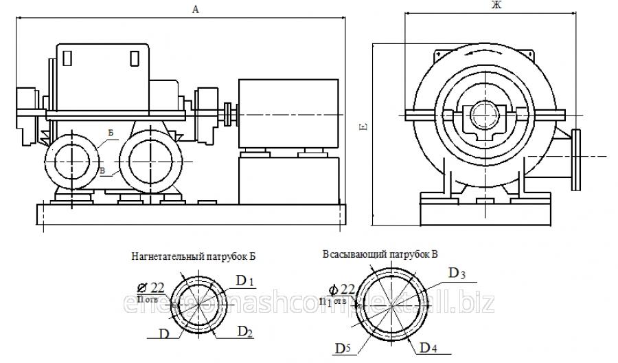 Турбокомпрессор газовый многоступенчатый ТГ-170