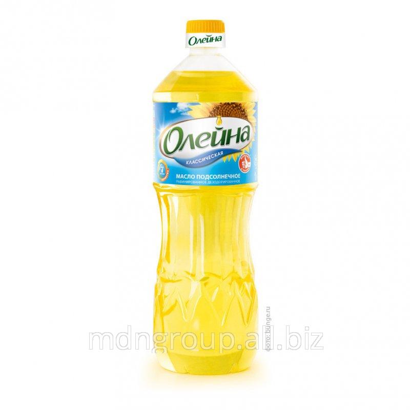 Масло Подсолнечное Олейна Раф. 0,87 Л