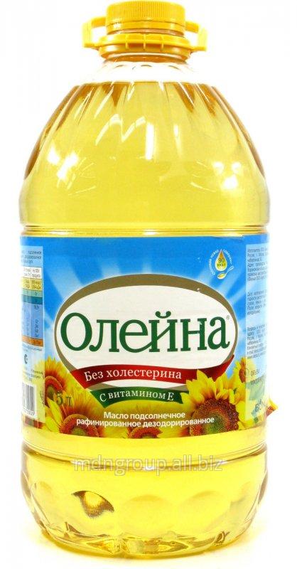 Масло Подсолнечное Олейна Раф. 5 Л