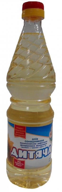 """Масло подсолнечное высокоолеиновое рафинированное дезодорированное вымороженное марки """"Д"""" """"736 г"""