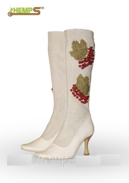 Взуття з конопель. Чоботи жіночі «Калина-2» Колекція « Весна-Літо ... 10d971eec7282