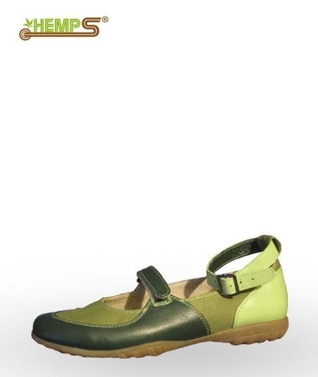 Купить Туфельки женские ««. Размер: 36-40. Цвет: зеленый, зелено-белый Коллекция «Весна-лето». Состав: верх- льняная ткань, кожа натуральная; подкладка — конопляная ткань ручной работы.