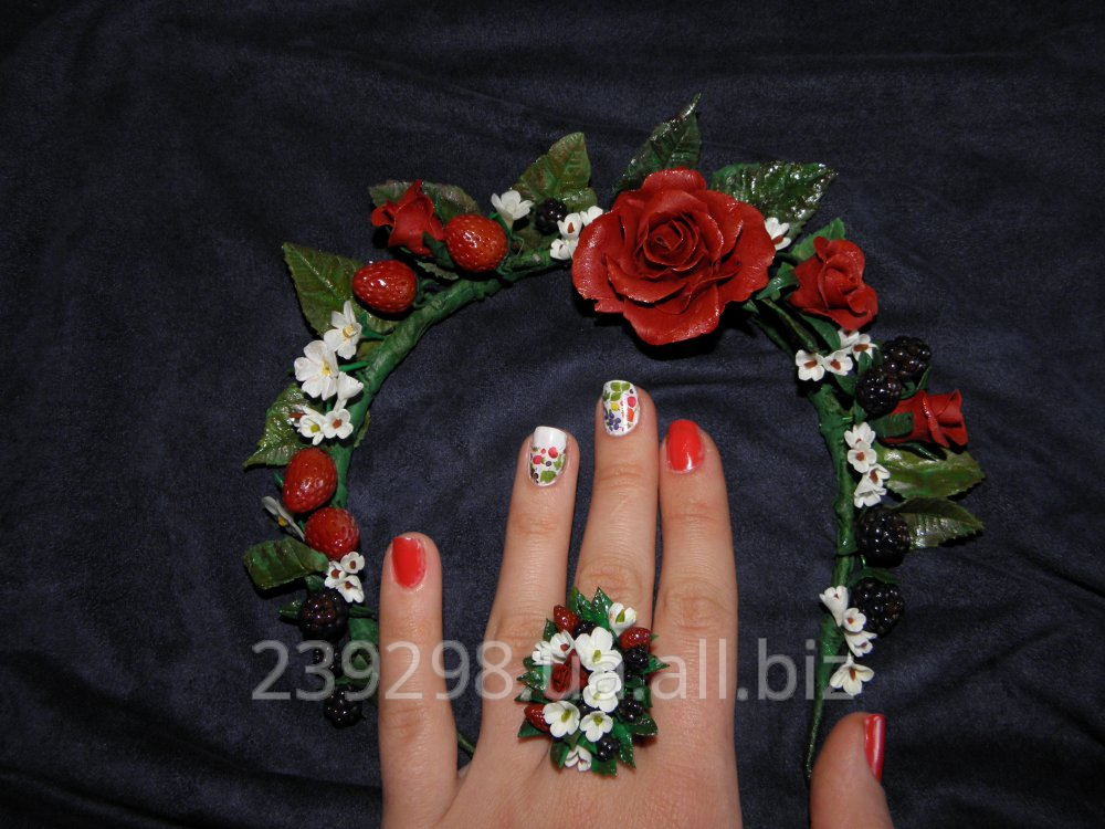 Buy Hoop and ring from cold porcelain