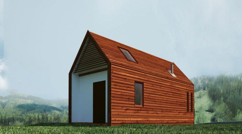 Купить Дом минимализм, сборный дом, быстрый дом