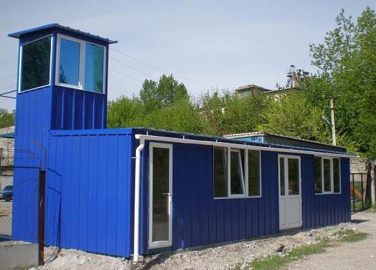 Дачный домик из металлоконструкций