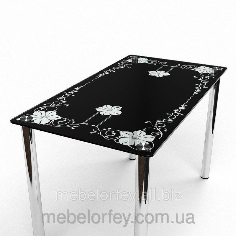 Купить Стеклянный обеденный стол Цветок БЦ-Стол