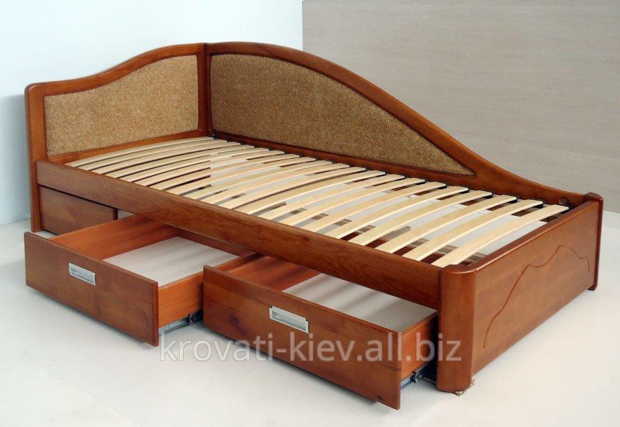 Односпальную кровать с ящиками для белья