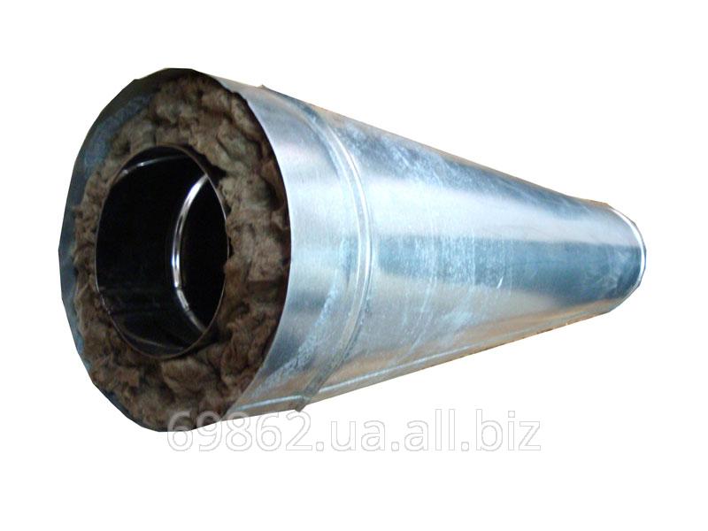 Дымоход из металла 1 мм (AISI 321) утепленный в кожухе из оцинковки