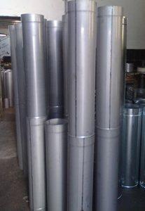 Одностенный овальный дымоход (для гильзовки) толщина металла 1 мм (AISI 321 c титаном)