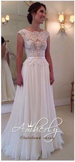 b1b2f36f998d599 Свадебное платье с кружевным верхом и открытой кружевной спиной ...