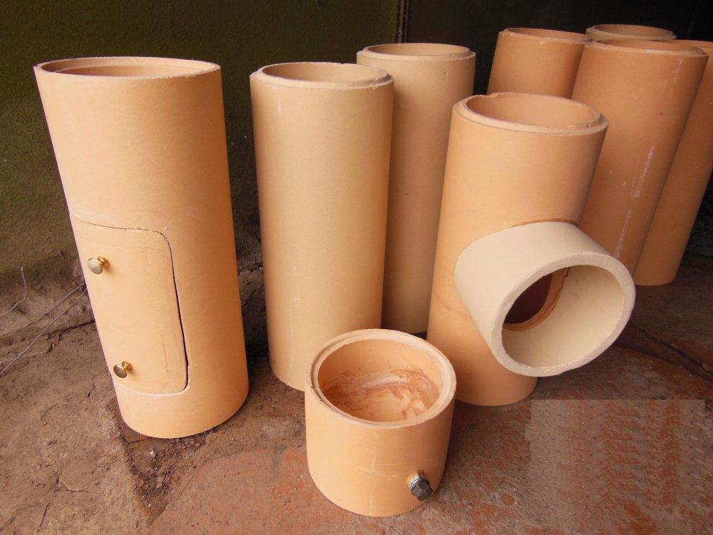 Buy The flue is ceramic. Internal diameter of D=160mm and D=200mm