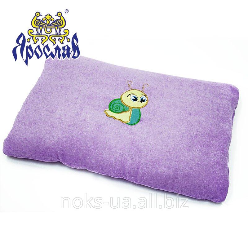 Декоративная махровая подушка с аппликацией ТМ Ярослав,
