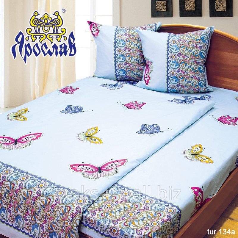 Комплект постельного белья бязь люкс ТМ Ярослав, tur134a, двойной (175х215 см)