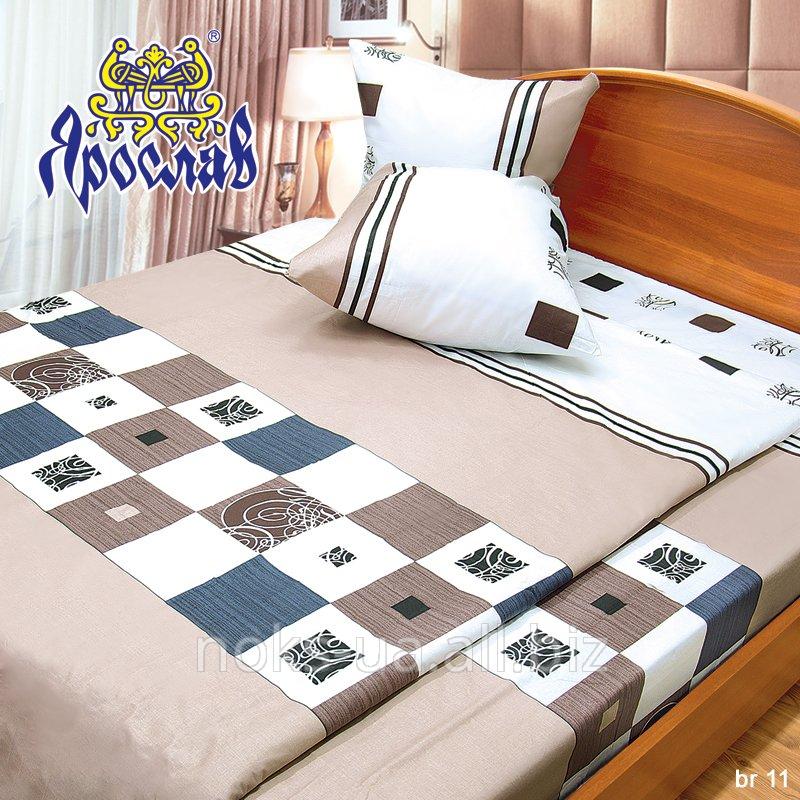 Комплект постельного белья бязь набивная ТМ Ярослав, br11, двойной (175х215 см)