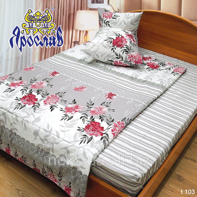 Комплект постельного белья бязь набивная ТМ Ярослав, t103, двойной (175х215 см)