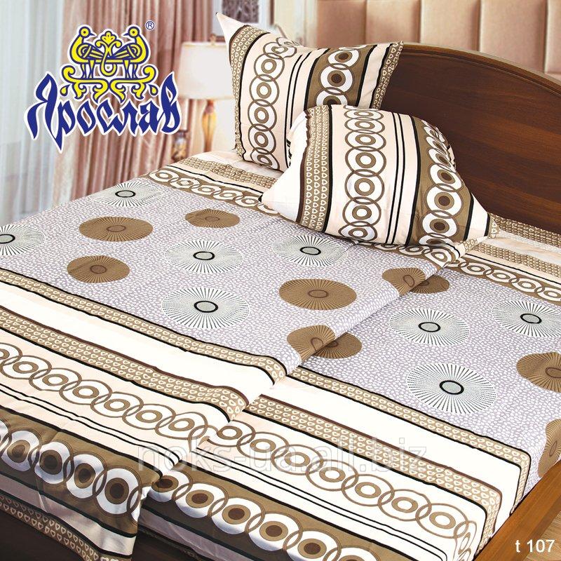 Комплект постельного белья бязь набивная ТМ Ярослав, t107, двойной (175х215 см)