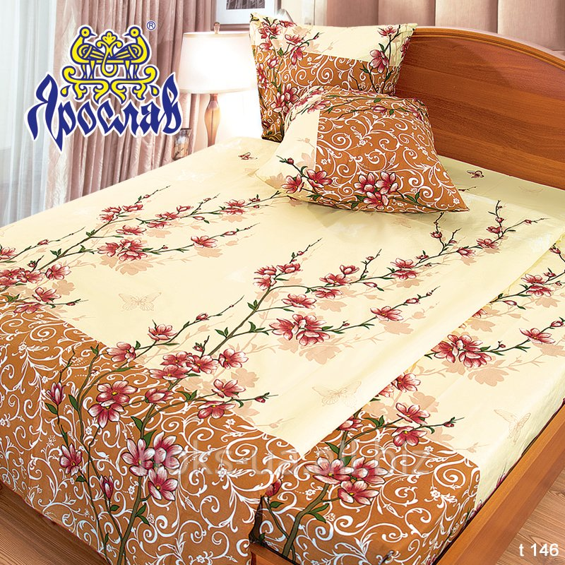 Комплект постельного белья бязь набивная ТМ Ярослав, t146, двойной (175х215 см)