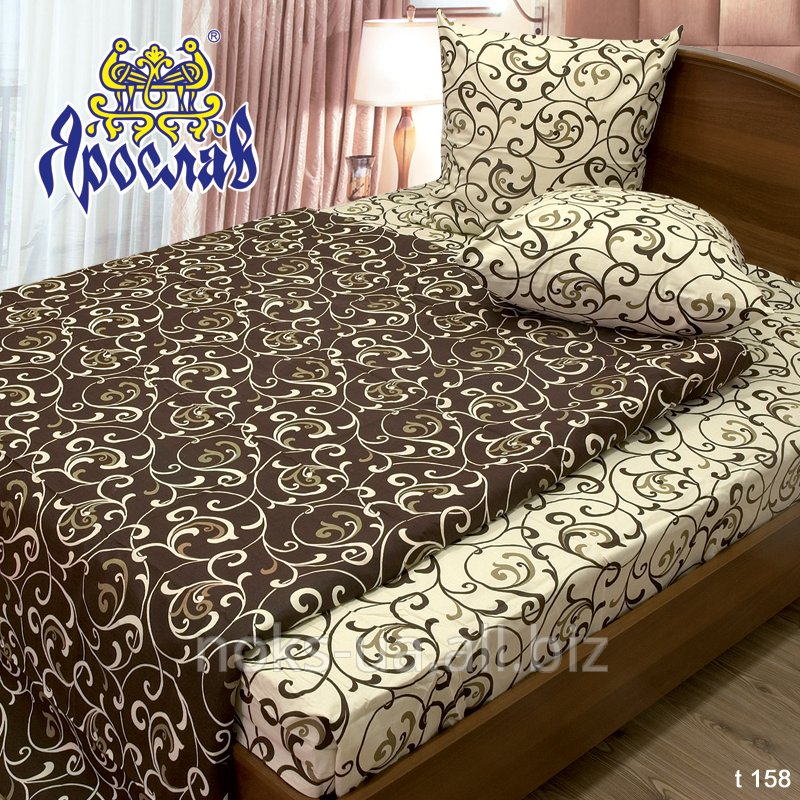 Комплект постельного белья бязь набивная ТМ Ярослав, t158, двойной (175х215 см)