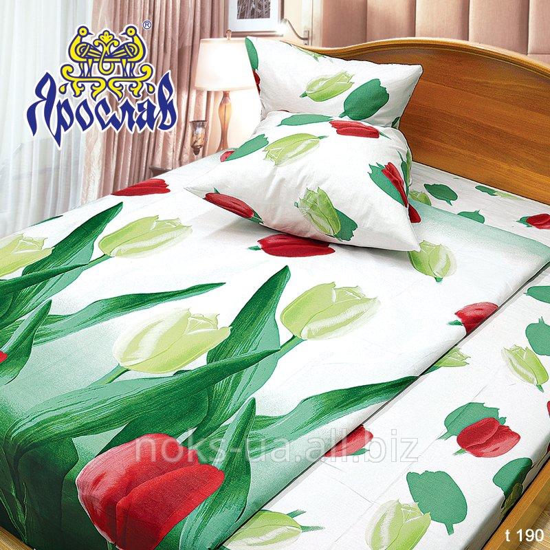 Комплект постельного белья бязь набивная ТМ Ярослав, t190, двойной (175х215 см)