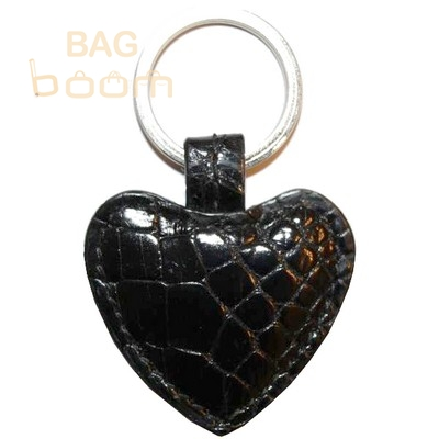 Брелок для ключей из кожи крокодила (KAMC 76 Black)