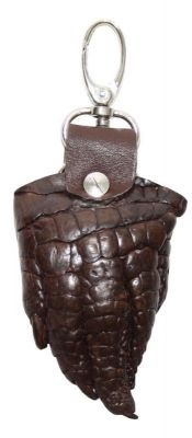 Брелок для ключей из кожи крокодила (KCL 96 Brown)