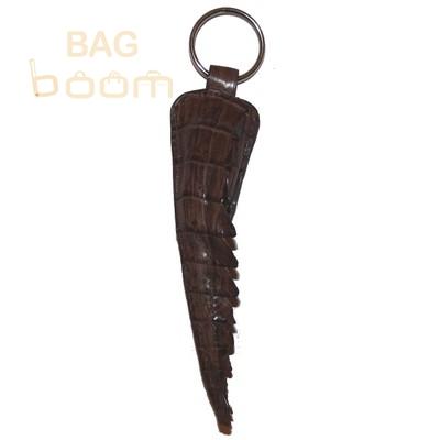 Брелок для ключей из кожи крокодила (KST 92 Brown)
