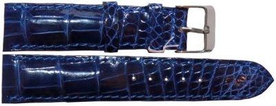 Ремешок для часов из кожи крокодила (ALWS 01 Dark Blue)