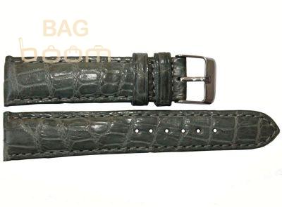 Купить Ремешок для часов из кожи крокодила (ALWS 02 Grey)