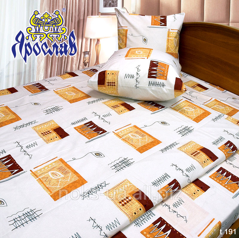 Комплект постельного белья бязь набивная ТМ Ярослав, t191, евро+ (220х240 см)