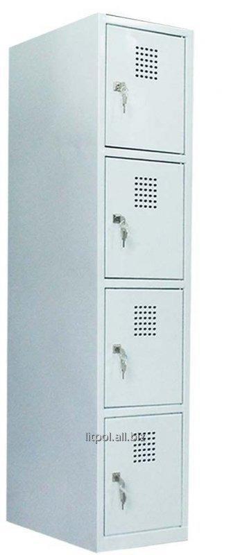 Купить Ячеечный металлический шкаф (локер) на 4 отделения Sus 314