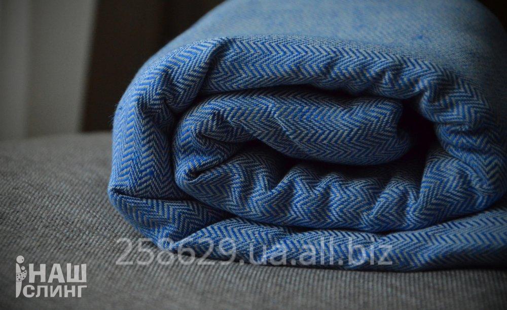 1d0b957018d7 Слинг-шарф тм Наш слинг Ёлочка Небо саржевый для новорожденных и старше,  отлично на лето