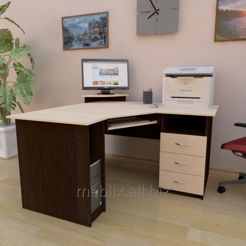 стол су 2 компьютерный угловой с полкой под клавиатуру системный
