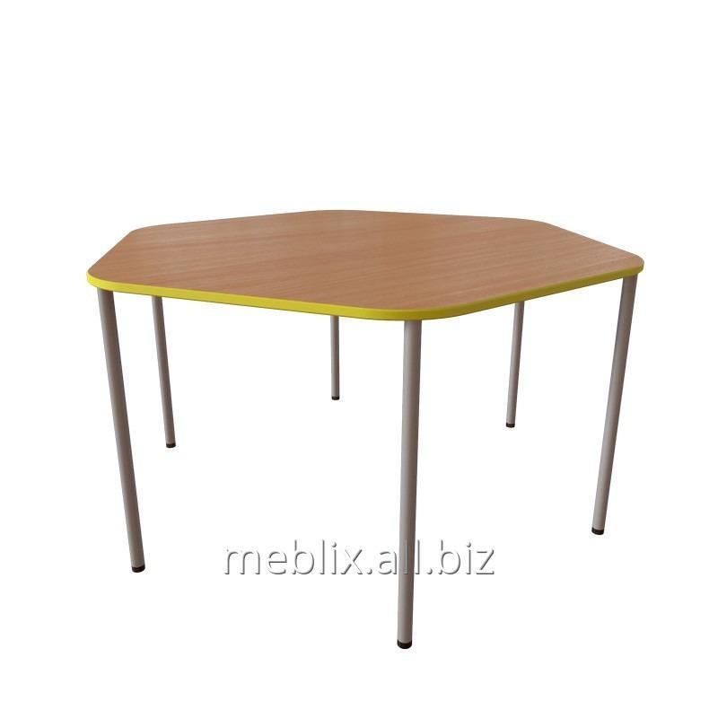 Table Childrens Sixsided For Kindergarten Buy In Ljubotin - Six sided table