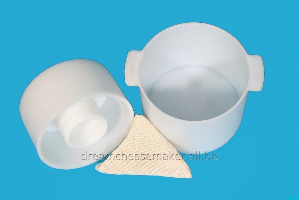 Форма для сыра твёрдого цилиндрического под серпянку до 5 кг