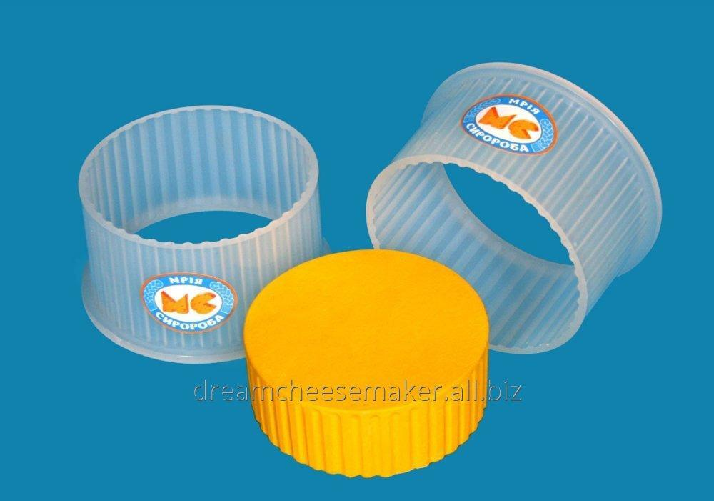 """Form for cheese of soft round 0,5 kg. type """"Cheddar"""", """"Suluguni"""