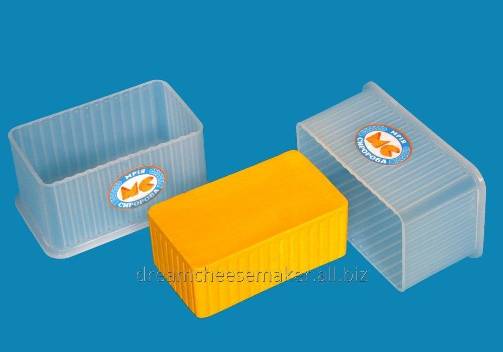 """Forms for soft cheese of rectangular 0.5 kg like """"Cheddar"""", """"Suluguni""""."""