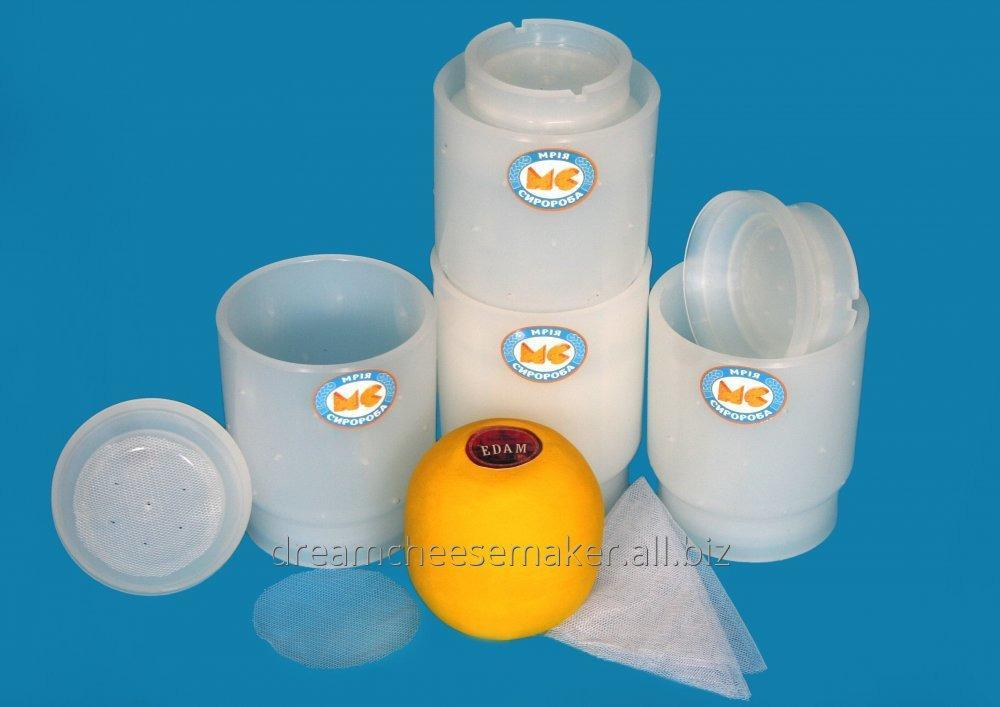 """Form for cheese in the form of a sphere weighing up to 0.5 kg like """"Edam"""", """"Kolobok""""."""