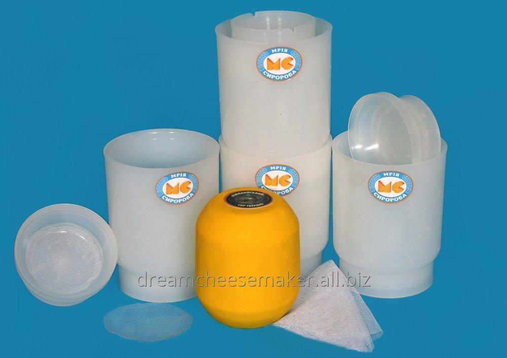Form for cheese of the rounded-off cylindrical form weighing up to 1.0 kg.