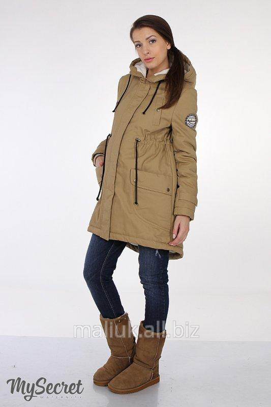 25a775ab138c Зимняя куртка-парка для беременных, песочная купить в Харькове