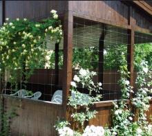 Купить Пластиковая сетка для поддерживания вьющихся растений, би-ориентированная, прочная сетка из полипропилена предназначенная для выращивания дёрна
