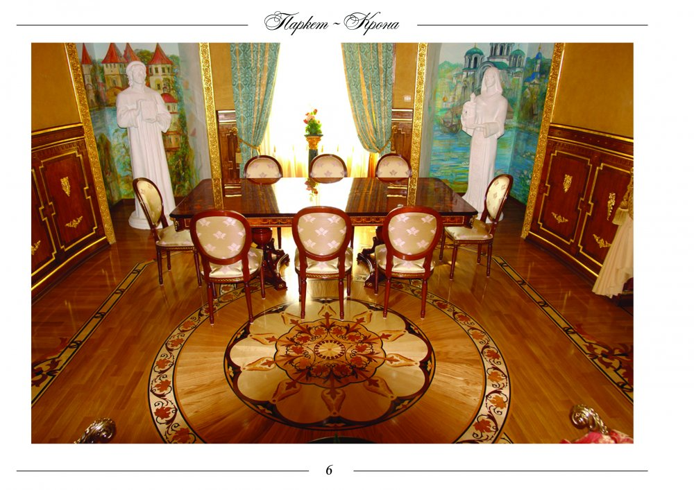 Palace parquet from our firm