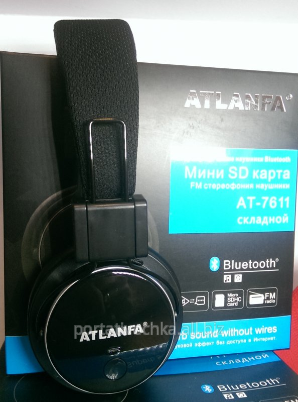 Earphones wireless Atlanfa Monster AT - 7611 with Bluetooth, a MP3 ...