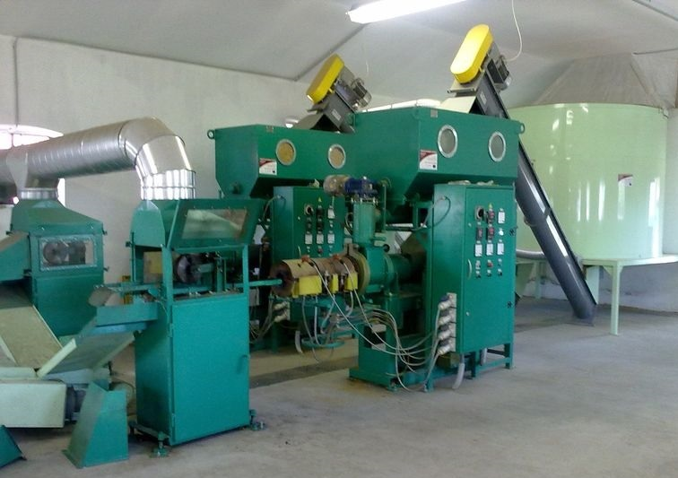 Линия брикетирования 800-1000  кг/ч Pini-Kay