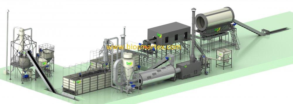Линия гранулирования 4000-6000 кг/ч (шелуха)